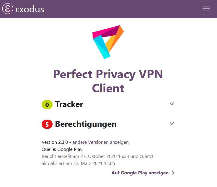 perfectprivacy Exodus