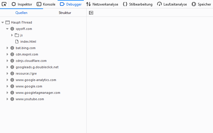 spyoff Webseite