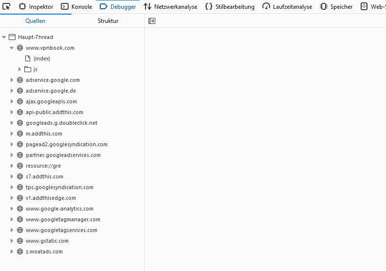 vpnbook Webseite