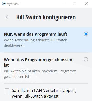 VyprVPN Killswitch