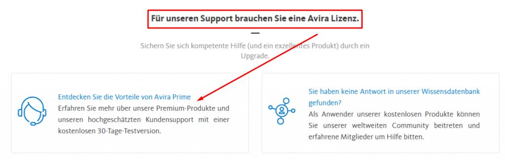 avira support premium