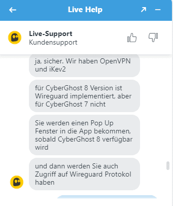 cyberghost Support