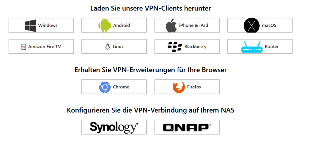 hide.me-vpn Plattformen