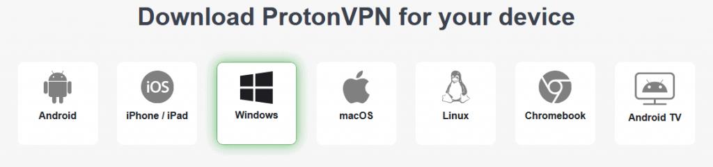 protonvpn plattformen