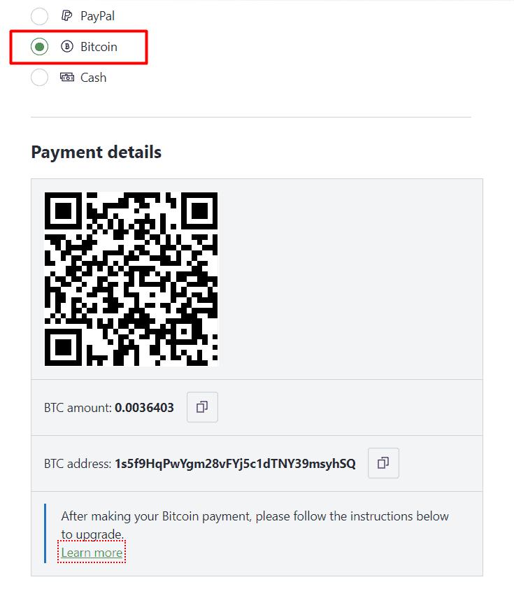 ProtonVPN Bitcoin Zahlung